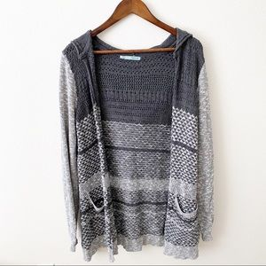 Maurices - Hooded Grey Sweater - L